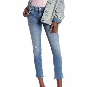 HUDSON Collin Destroyed Hem Skinny Jeans Sz 30 NWT